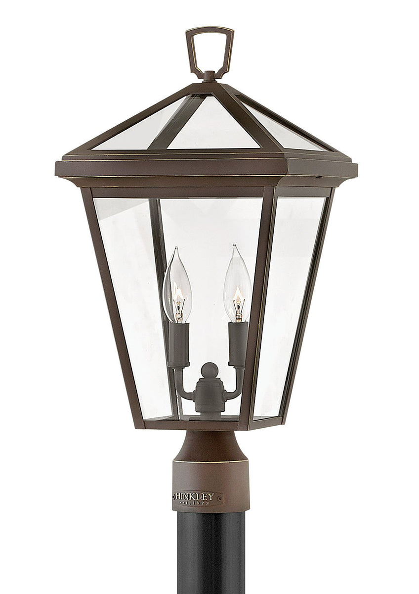Alford Place 2-Light Outdoor Pier Post Light in Oil Rubbed Bronze