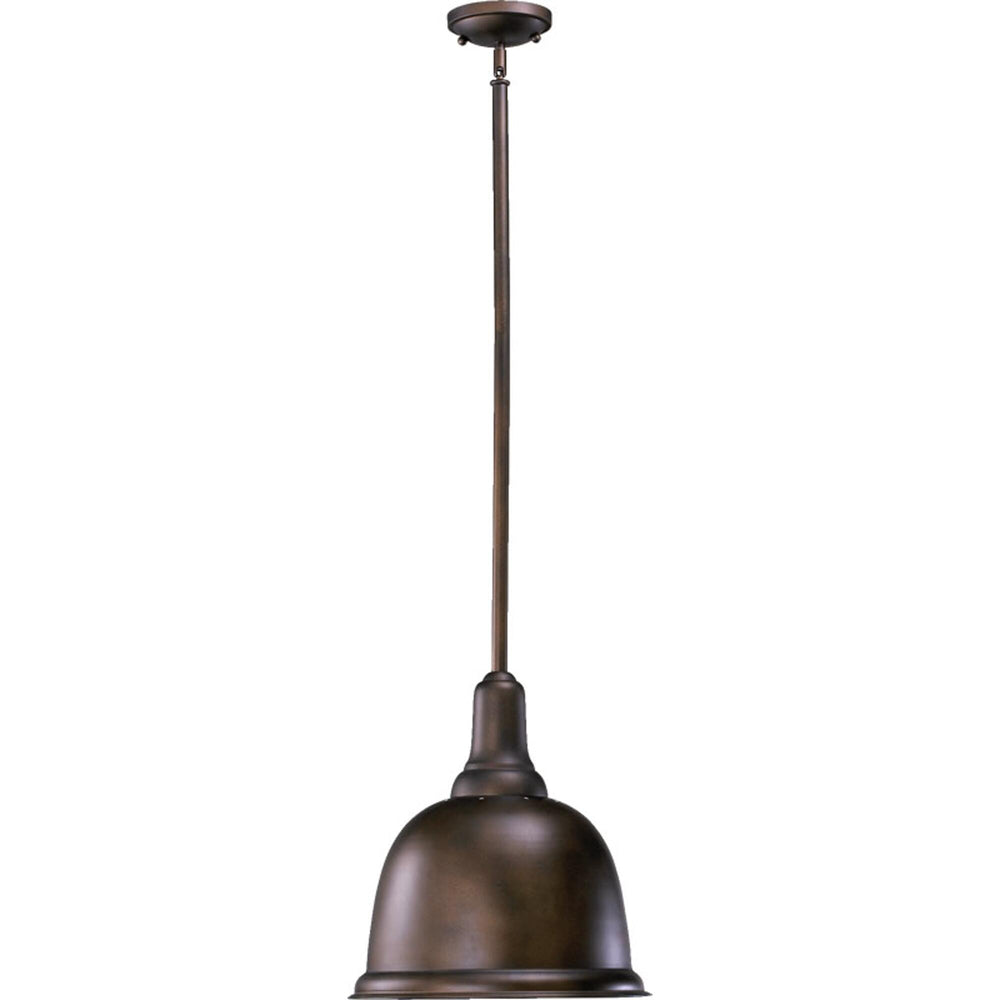 "14""W 1-Light Dome Pendant Oiled Bronze"