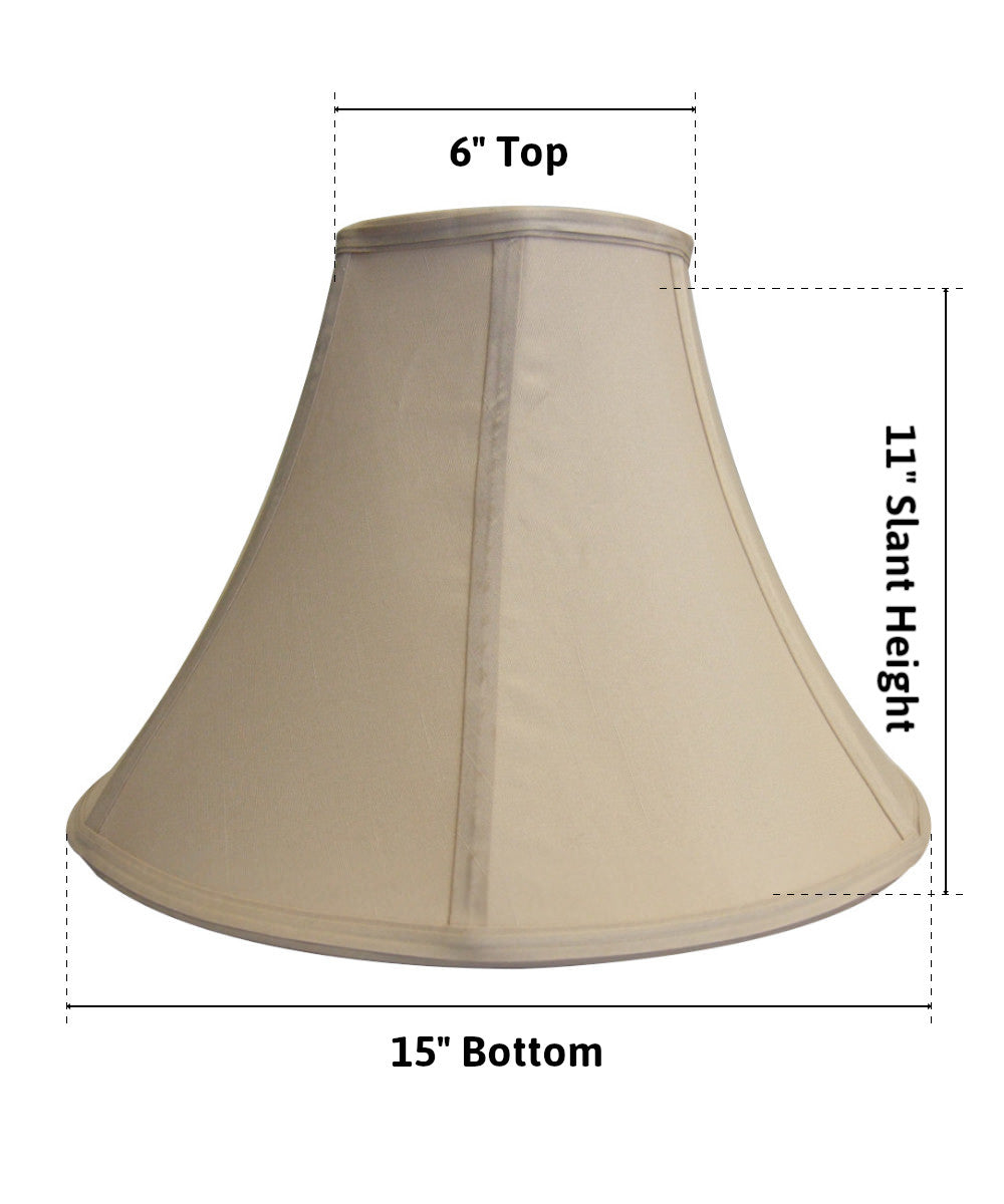 "15""W  x 11""H Cream Bell Lamp Shade"
