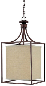 "14""W OPEN BOX  Midtown 2-Light Foyer Burnished Bronze"