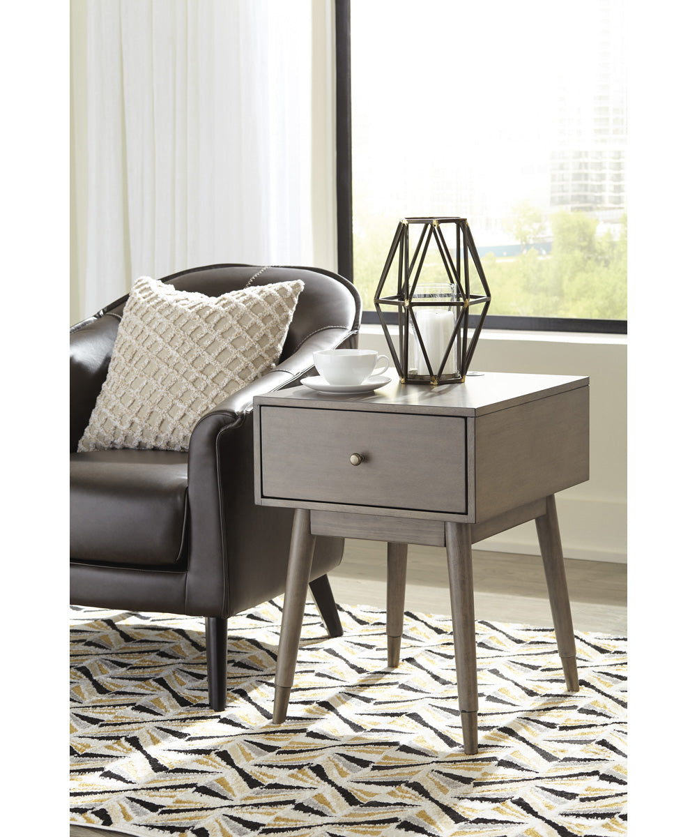 "25""H Paulrich Accent Table Antique Gray"