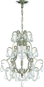 0-009856>3-Light Mini Chandelier Polished Nickel