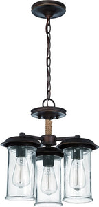 0-007010>Thornton 3-Light Semi Flush/Pendant Light Aged Bronze