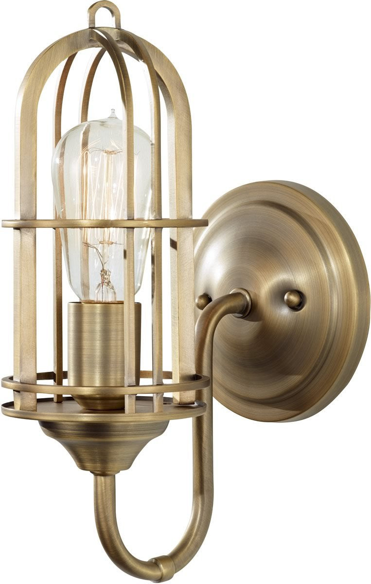 "6""W Urban Renewal 1-Light Bath Vanity Light Dark Antique Brass"