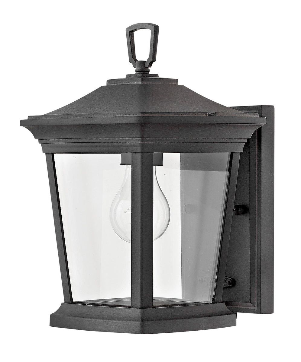 Bromley 1-Light Mini Outdoor Wall Light in Museum Black