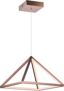 Pyramid LED Pendant Rose Gold