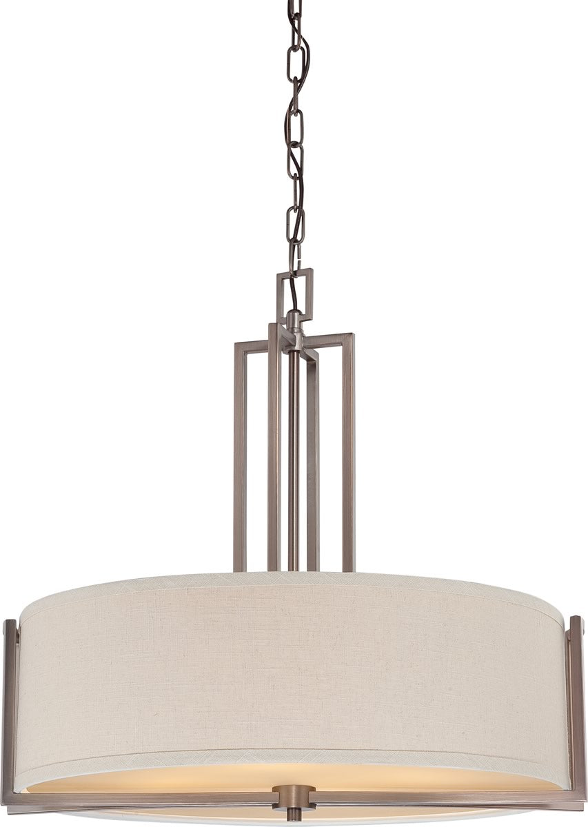 "24""W Gemini 4-Light Pendant Hazel Bronze"