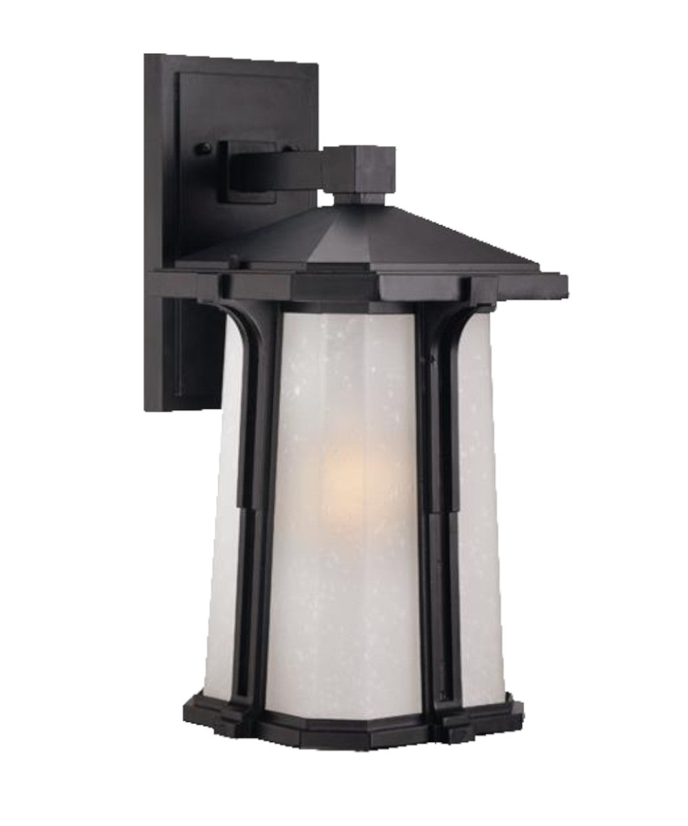 "16""H Illuma 1-Light Matte Black Wall Light"