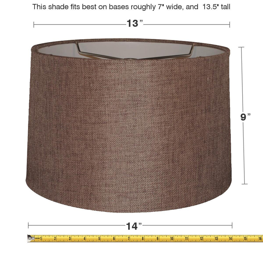 13x14x9 Chocolate Burlap Drum Shade