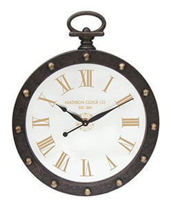 Juan Wall Clock Brown