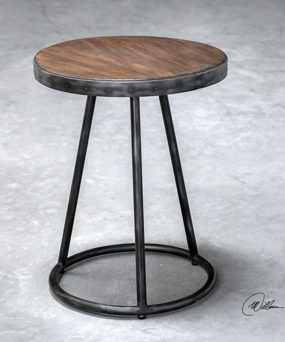 "25""H Hector Round Accent Table"