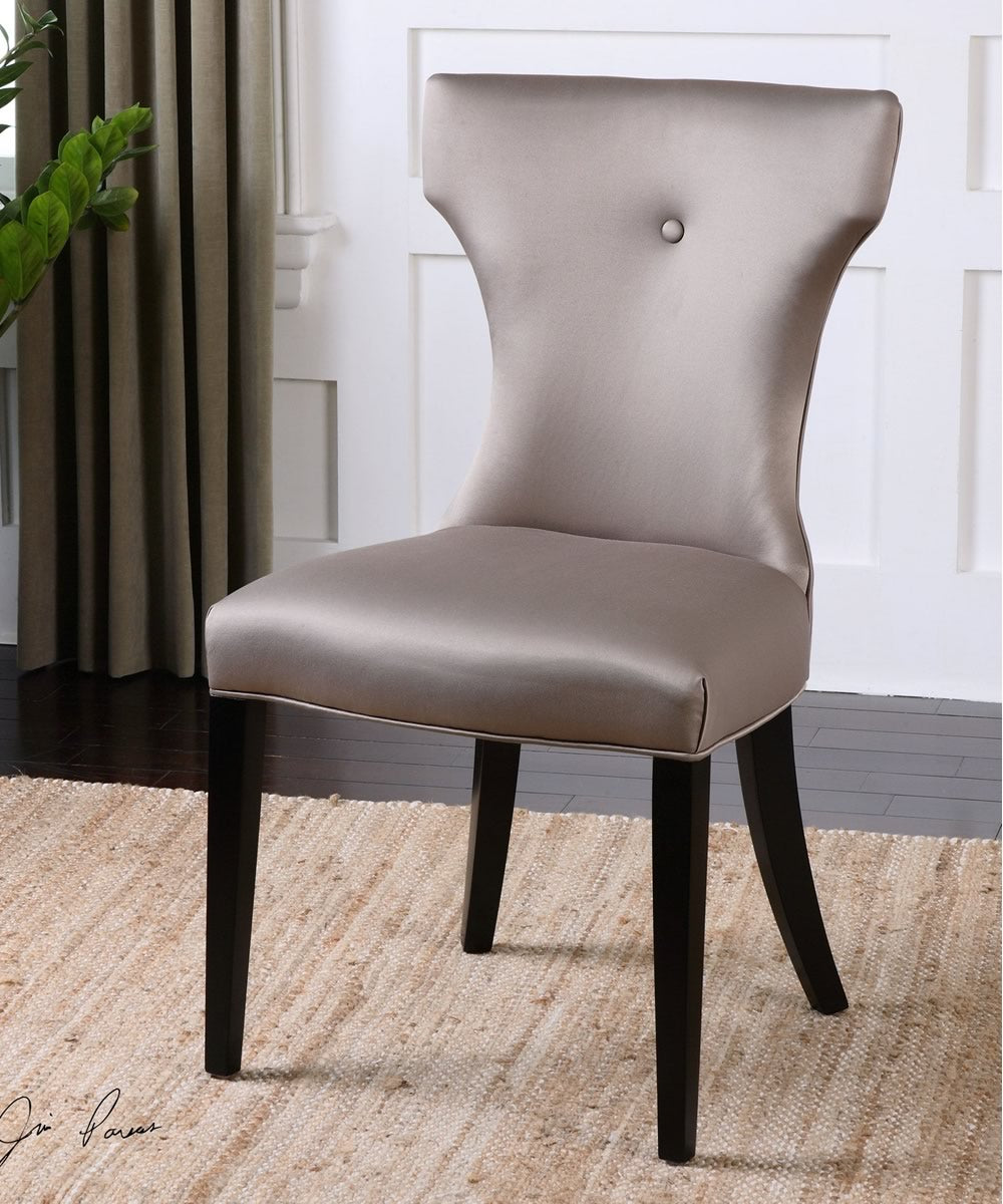 "37""H Wynter Satin Armless Chair"