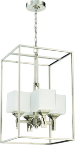 0-002615>Urbane 4-Light Foyer Light Brushed Polished Nickel