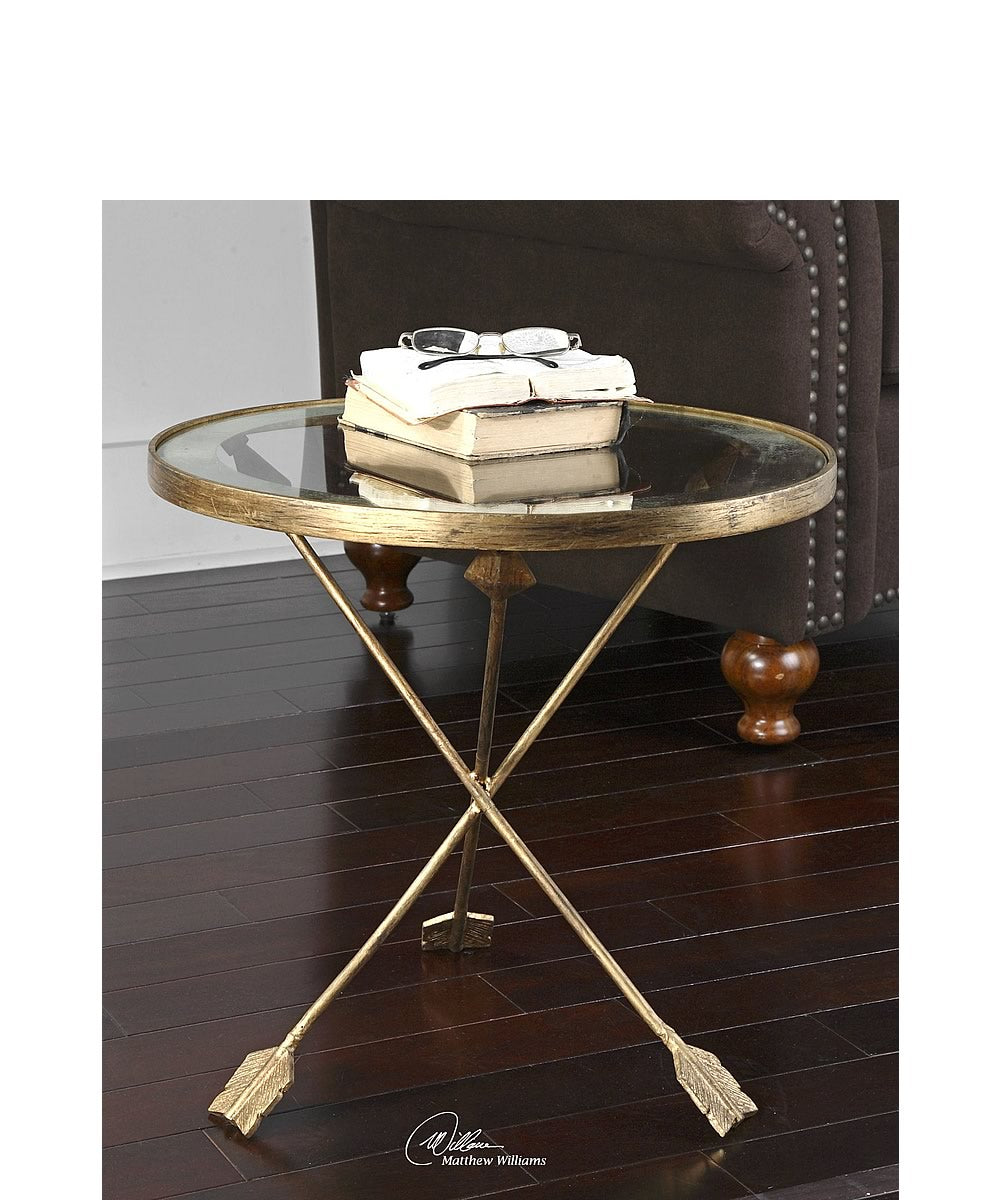 "20""H Aero Glass Top Accent Table"