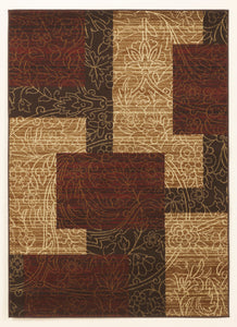 Rosemont Medium Rug Red/Brown/Gold 5x7