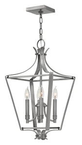 Fleming 4-Light Single Tier Foyer in Polished Antique Nickel