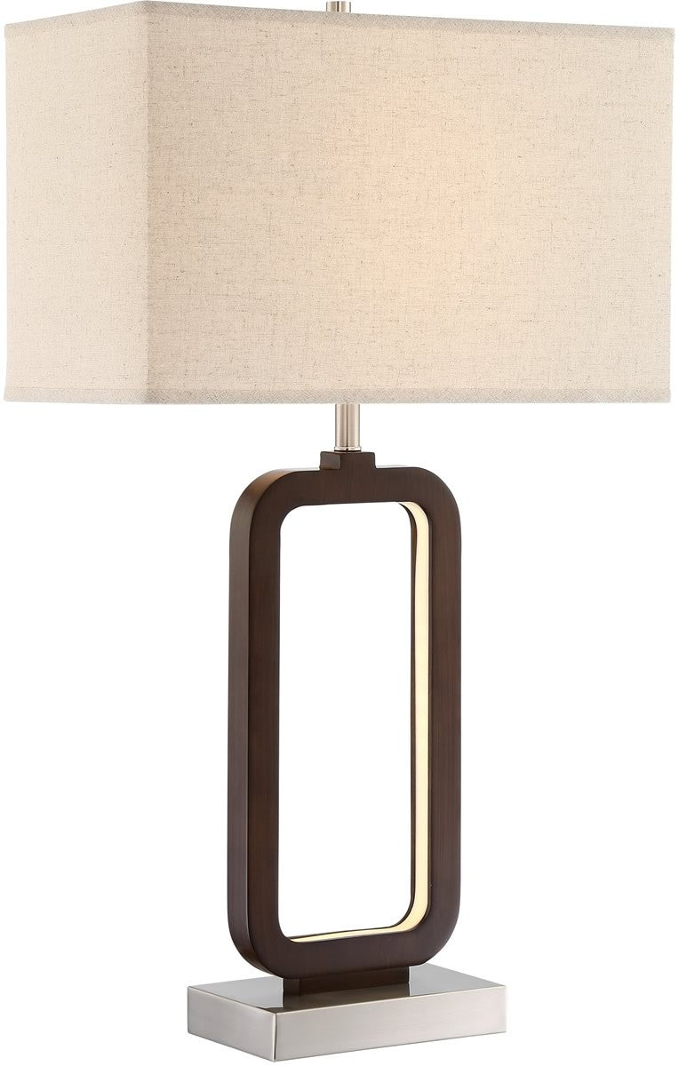 "31""H Leonard 1-light Table Lamp Walnut"
