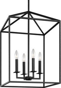 0-019493>Perryton 4-Light Hall Foyer Pendant Blacksmith