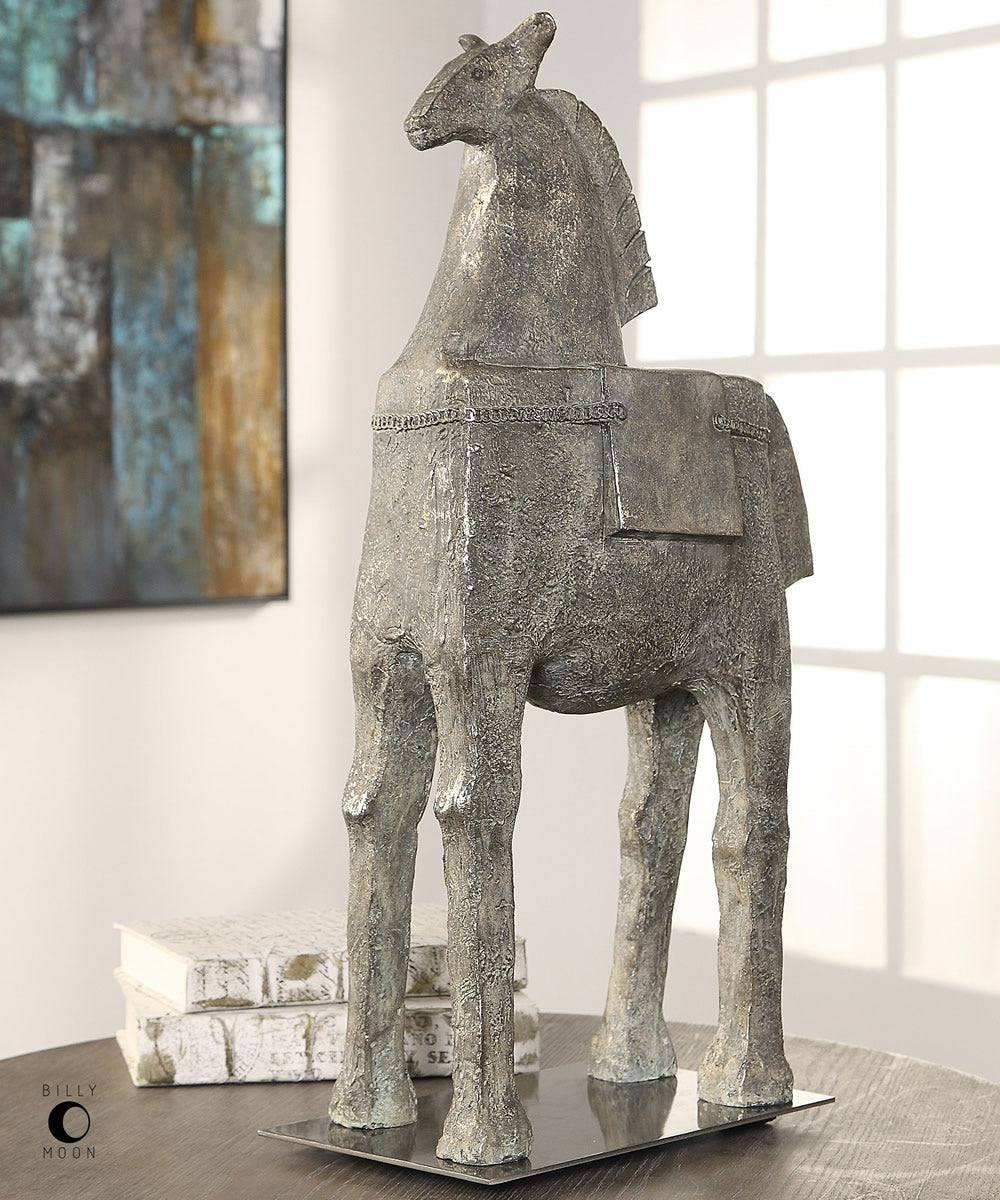 "24""H Mark Abstract Horse Sculpture"