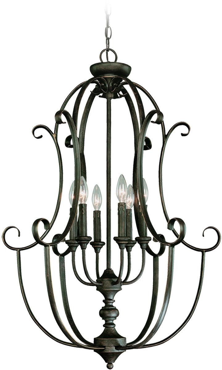 Barrett Place 6-Light Foyer Light Mocha Bronze