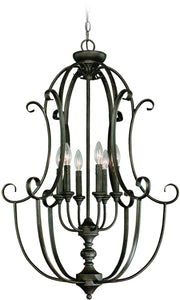 0-009943>Barrett Place 6-Light Foyer Light Mocha Bronze