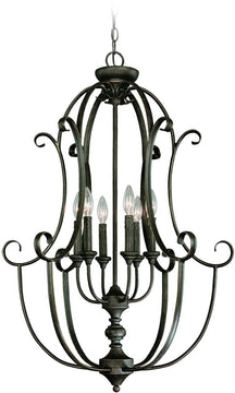 "24""W Barrett Place 6-Light Foyer Light Mocha Bronze"