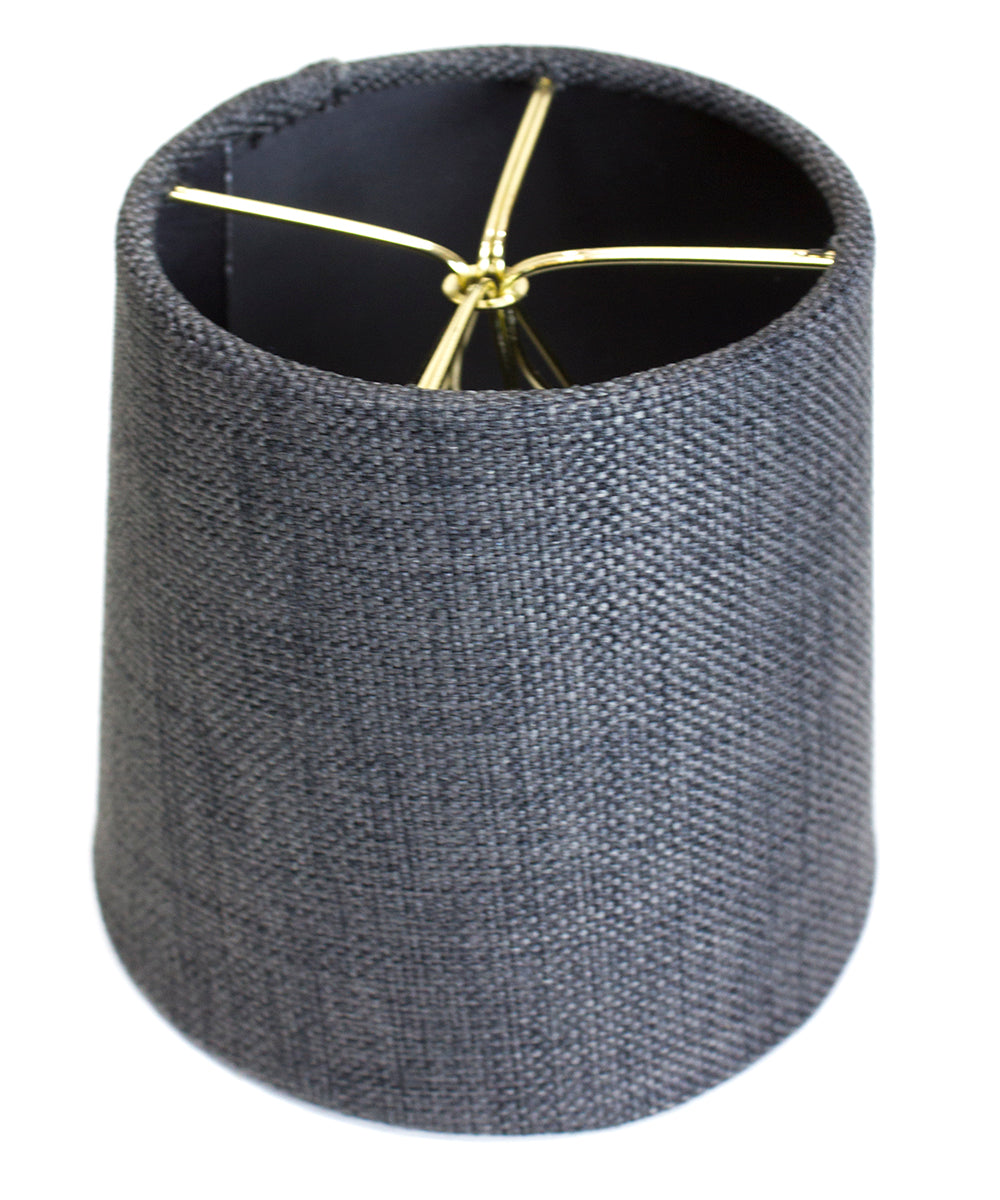 4.5x 5.5x 5.25 Granite Gray Burlap Drum Shade