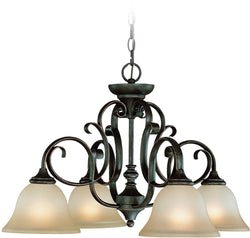 0-005015>Barrett Place 4-Light Down Chandelier Mocha Bronze