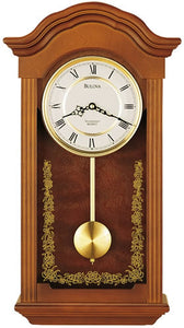 Bulova Clocks Baronet Chiming Wall Clock C4443