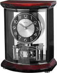 View the Bulova Clocks Gentry Mantel Clock High Gloss Piano over Mahogany Stain
