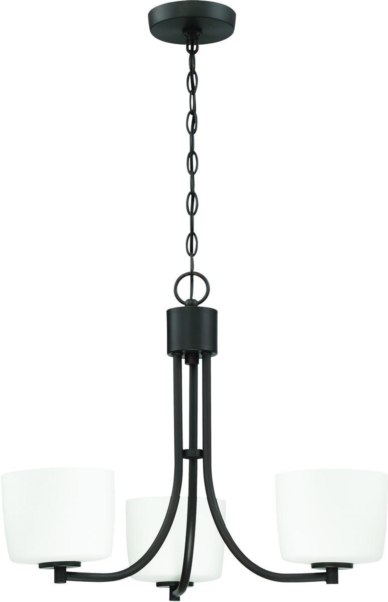 "22""W Clarendon 3-Light Chandelier Aged Bronze Brushed"