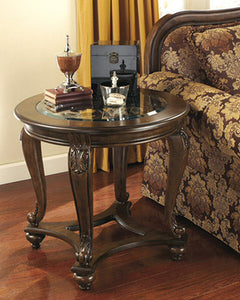 Norcastle Round End Table Dark Brown