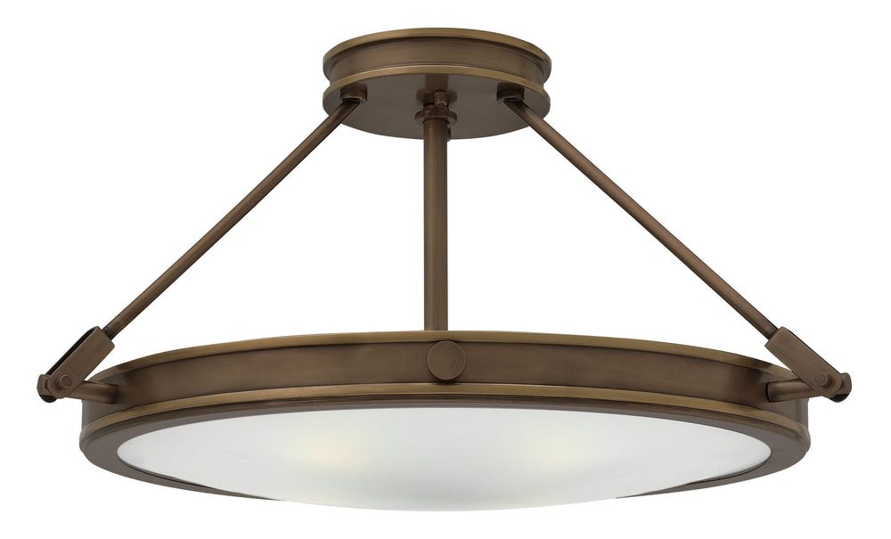 Collier 1-Light Semi-flush Mount in Light Oiled Bronze