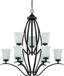 Northlake 9-Light Chandelier Aged Bronze Brushed