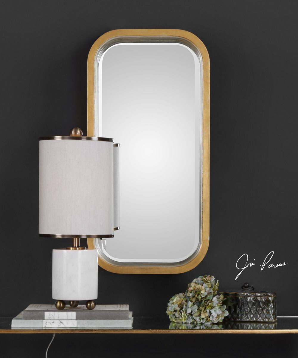 Senio Metallic Gold Wall Mirror