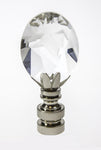 View the Finial Showcase Swarvoski Crystal Rift Nickel Base Finial