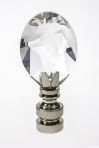 Finial Showcase Swarvoski Crystal Rift Nickel Base Finial