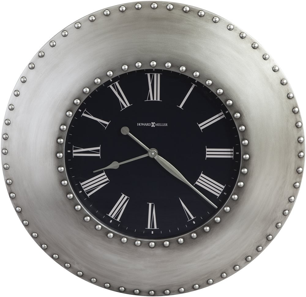 "33""H Bokaro Wall Clock Nickel"
