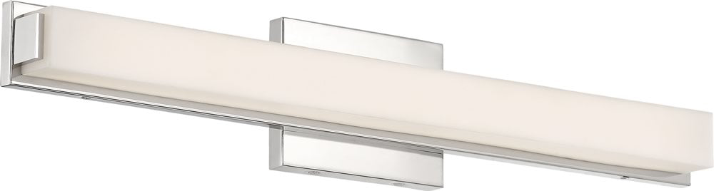 "25""W Slick 1-Light Vanity & Wall Polished Nickel"