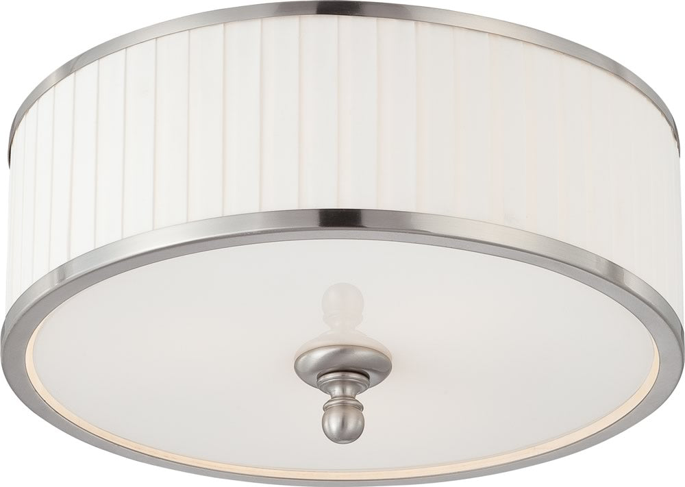 "15""W Candice 3-Light Close-to-Ceiling Brushed Nickel"