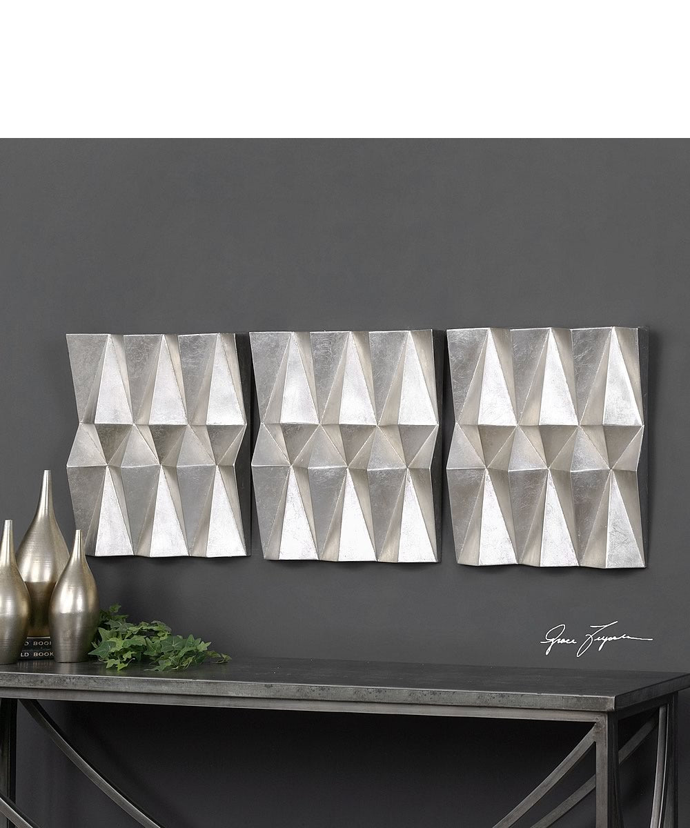 Maxton Multi-Faceted Panels Set of 3