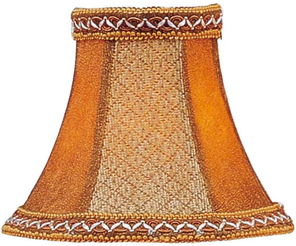 3x6x5 Chandelier Bell Lamp Shade Tan/Brown Suede