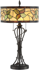 Olivia 2-light Table Lamp Dark Bronze