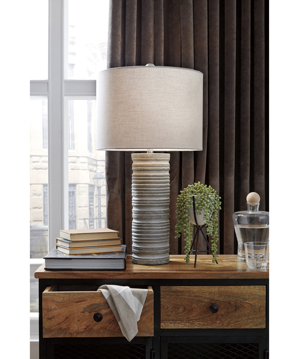 "30""H Nadyia Paper Table Lamp Set of 2 Gray"