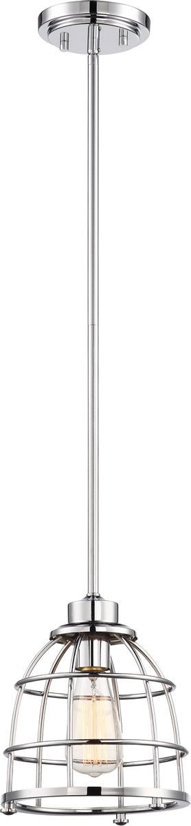 "8""W Maxx 1-Light Pendant Polished Nickel"