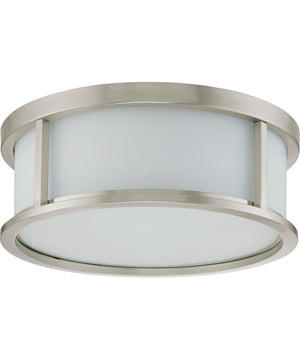 "17""W Odeon  Close-to-Ceiling Brushed Nickel"