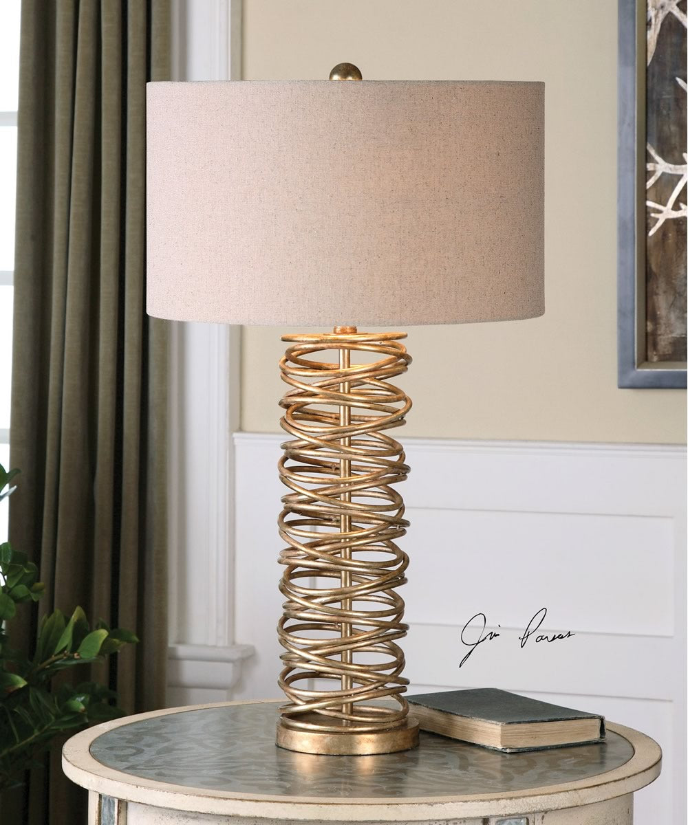 "30""H Amarey Metal Ring Table Lamp"