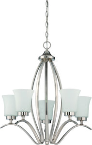 0-011223>Northlake 5-Light Chandelier Satin Nickel