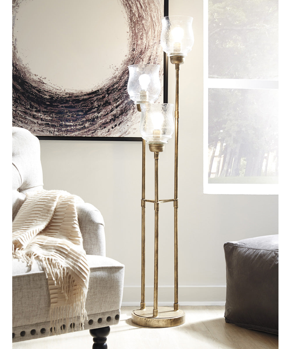 Emmie Metal Floor Lamp (1/CN) Antique Gold