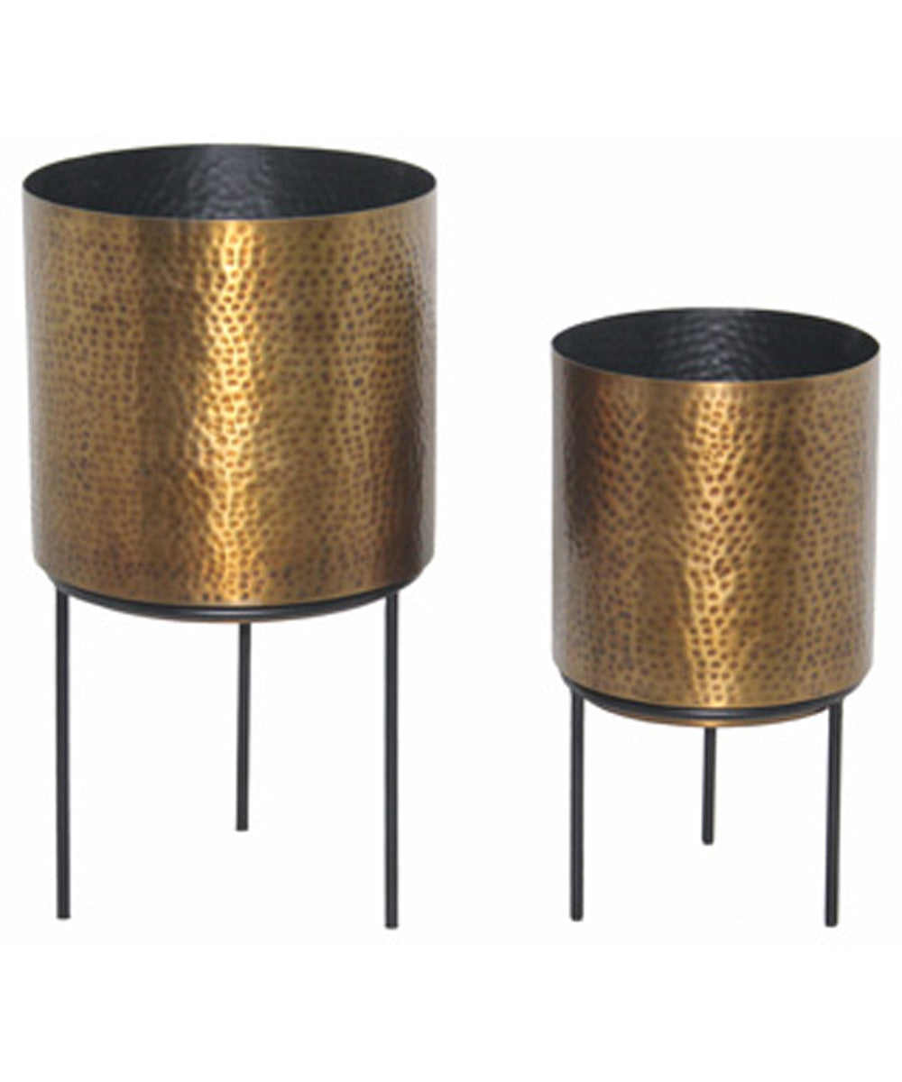 Donisha Planter Set of 2 Antique Brass